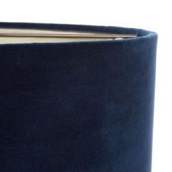 Pantalla 40,5cm doble terciopelo azul noche