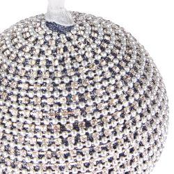 decoración esfera plateada Jewelled