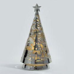 árbol de metal decorativo de Navidad con luz