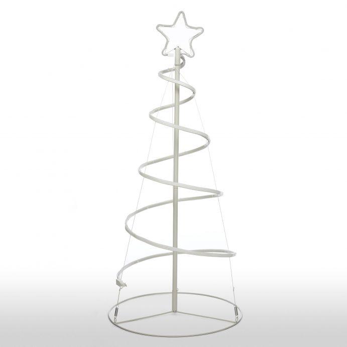 árbol espiral luminoso para exterior