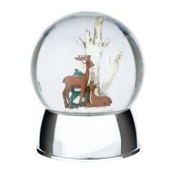 bola decorativa con luz con paisaje de reno