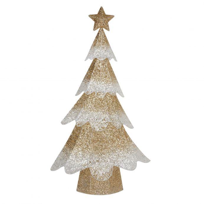 Arbol champán para exterior de Navidad con luz