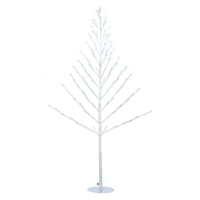 Arbol blanco de Navidad con luz