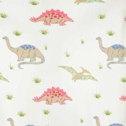 manta blanca con dinosaurios estampados de tacto polar