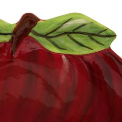 fuente plato en forma de manzana roja de diseño