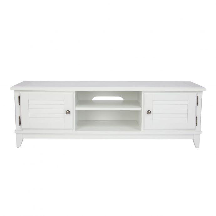mueble bajo ideal para televisión y multimedia, con dos armarios y una balda ajustable