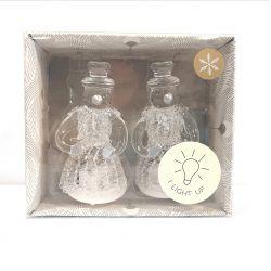 2 muñecos de nieve luminosos