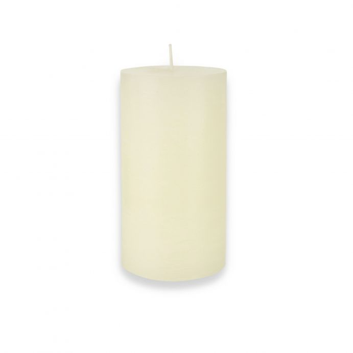 vela columna crema