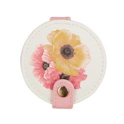 espejo de bolso estampado con flores de diseño - ideas para regalar