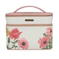 neceser de gran tamaño estampado con flores rosas