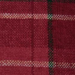 manta clásica de cuadros roja con flecos