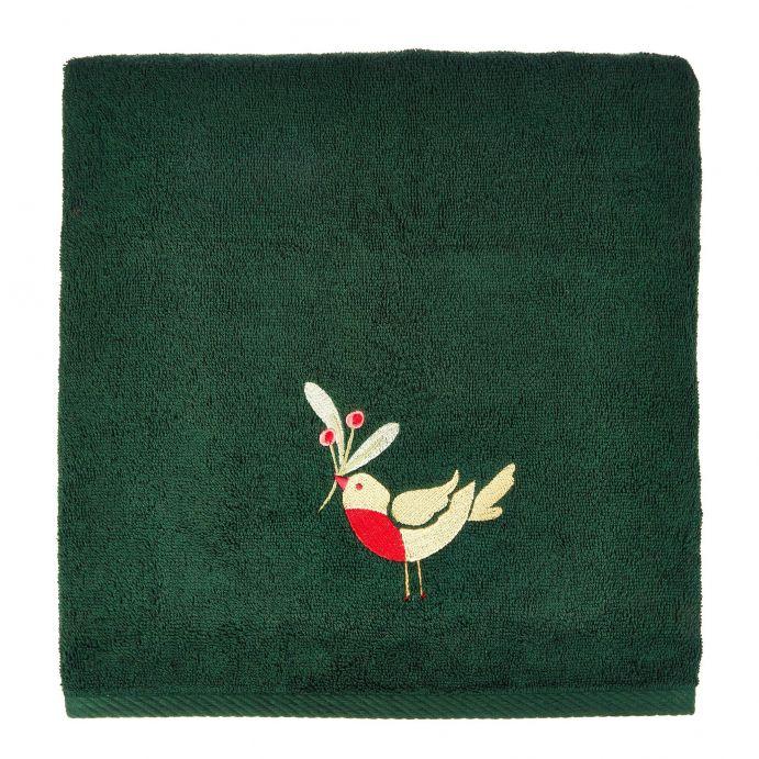 toalla de mano Robin verde