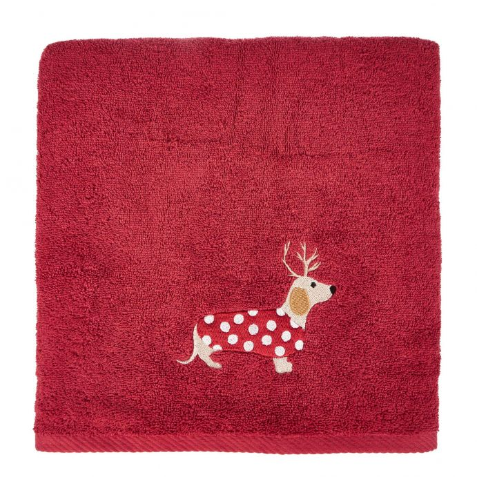 toalla de mano Dachshund rojo