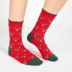 Calcetines Rudolf en bola navideña
