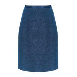 Falda de lana azulada