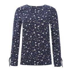 Blusa estampada Leaves and animals