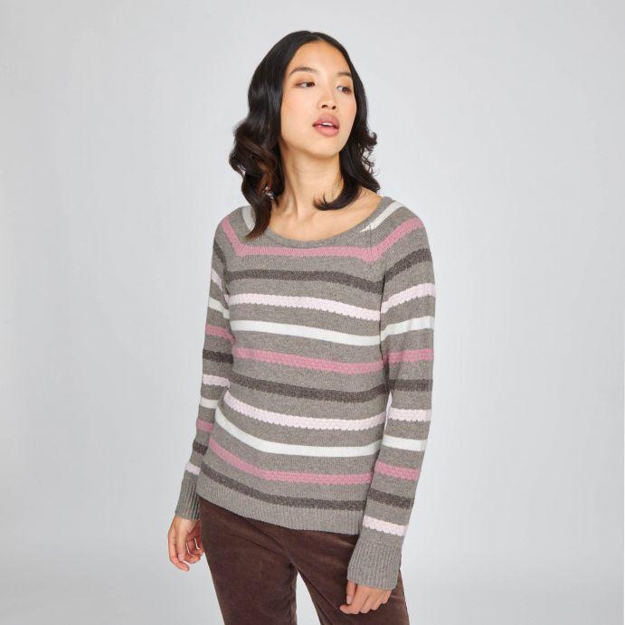 Jersey de rayas con cuello redondo