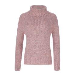 Jersey de cuello vuelto rosa