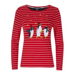 Camiseta manga larga con pingüinos