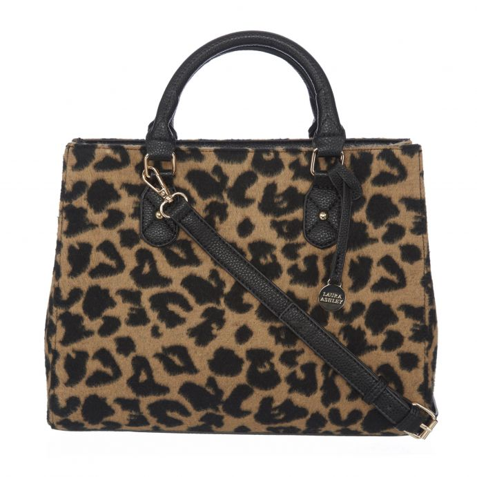 Bolso de doble compartimento leopardo