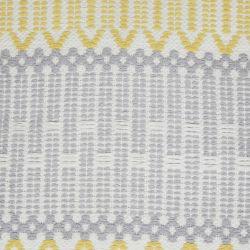 cojín para suelo en amarillo y gris de diseño