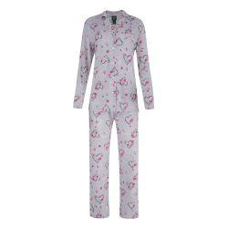 Pijama corazón floral