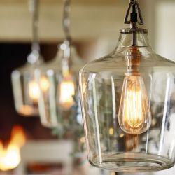 lámpara colgante de techo tipo botella de cristal de diseño