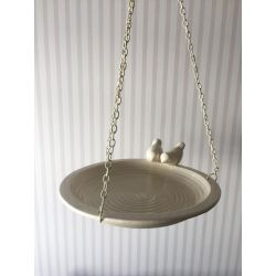 plato colgante como baño para pájaros decoración para jardín