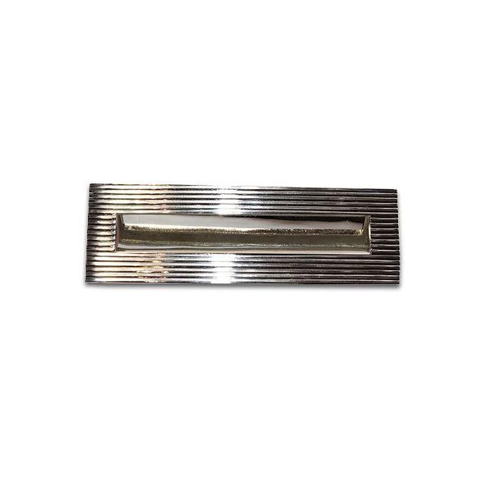 buzón para puerta Ribbed níquel