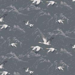papel pintado Animalia acero oscuro PTW