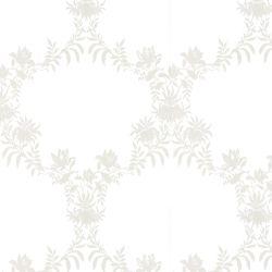 papel pintado Parterre Trellis blanco PTW