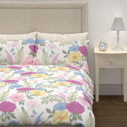 funda nórdica y fundas de almohada estampada con flores multi color de diseño