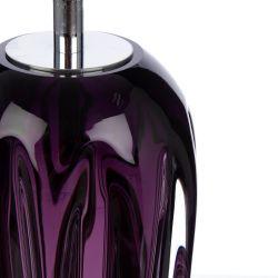base de lámpara de cristal morada