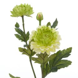 rama Crisantemo verde artificial - 62 cm
