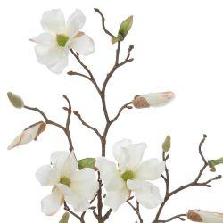 rama de Magnolia blanca artificial - 75 cm