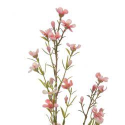 rama de flor de cera rosa artificial - 78 cm