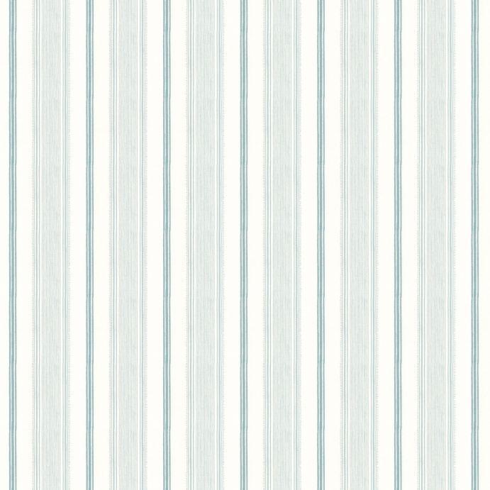 Tela Heacham de rayas azul verdoso