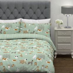 conjunto de cama Dog Days estampado