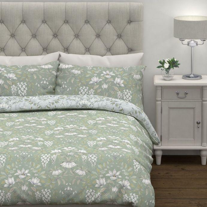 set de cama Parterre verde salvia