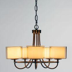 lámpara Southwell bronce 5 brazos
