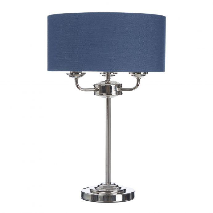 lámpara completa Sorrento níquel azul