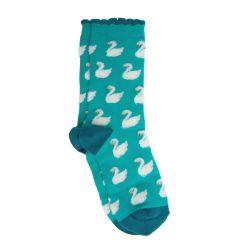 Calcetines esponjosos de cisnes