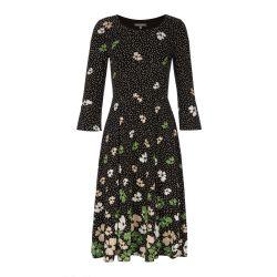 Vestido Florencia con flores silvestres de borde irregular