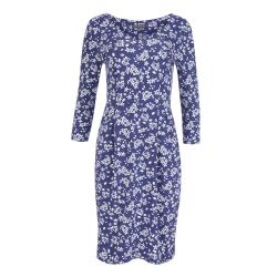 Vestido Milly de flores azul