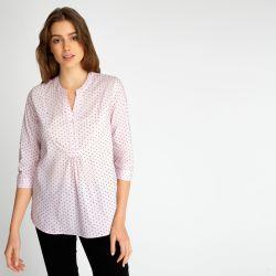 Camisa rosa con lunares