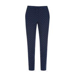 Pantalón de algodón elástico Richmond  Spot  azul marino