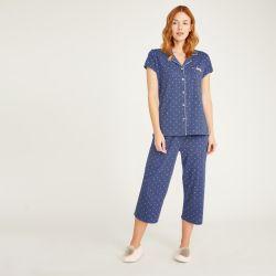 Pijama azul vaquero con lunares