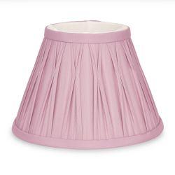 pantalla de seda plisada rosa