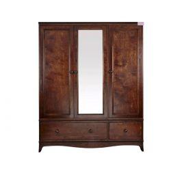 armario 3 puertas en madera maciza oscura