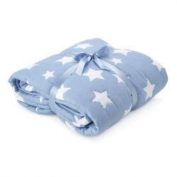coclha azul con estrellas blancas para niños